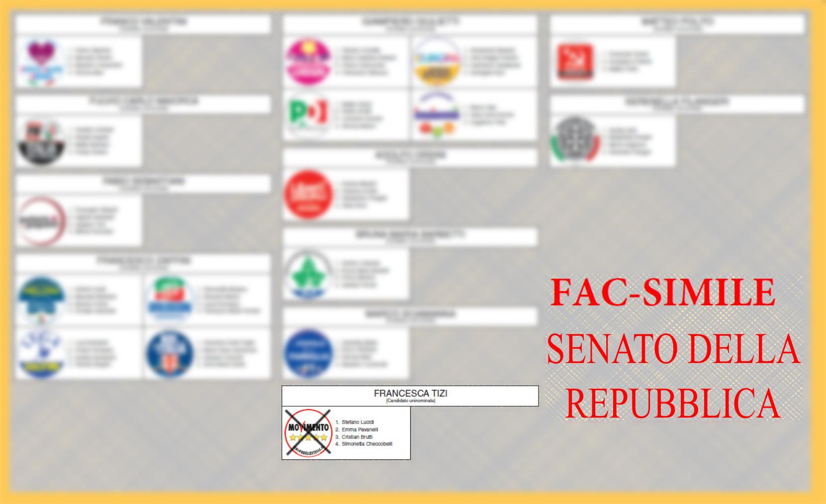 Elezioni politiche del 4 marzo 2018 for Senato della repubblica diretta